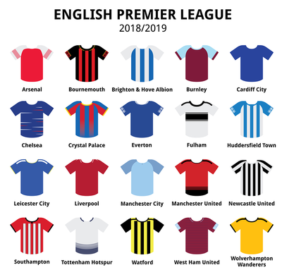 2018-2019 Premier League Home Shirts