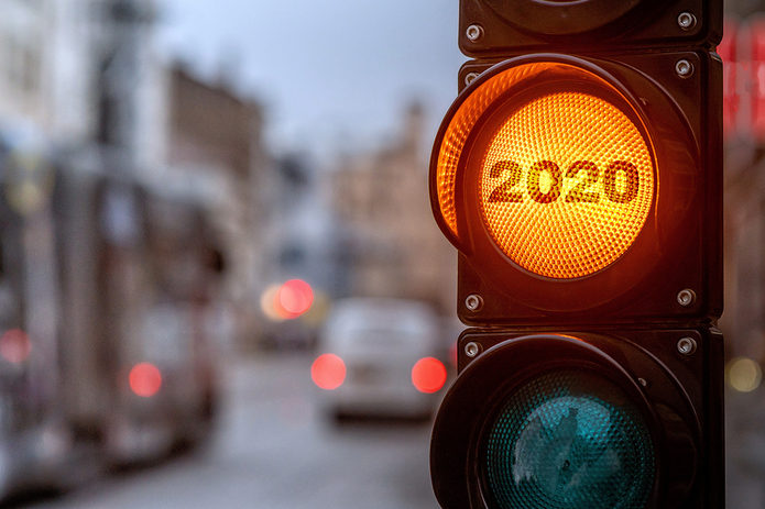 2020 Amber Traffic Light