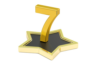 3D Golden 7 on Star Podium