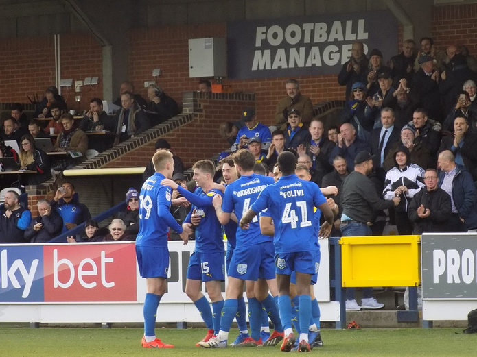 AFC Wimbledon Celebrating Goal