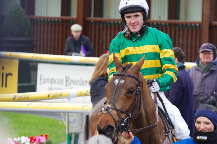 AP McCoy After a Horse Race