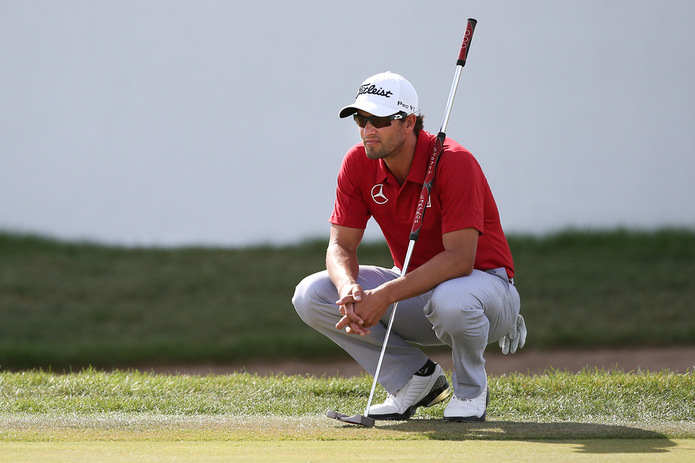 Golfer Adam Scott Waiting to Take Shot
