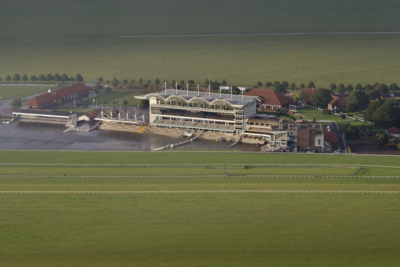 Aerial View of Newmarket Rowley Mile Racecourse