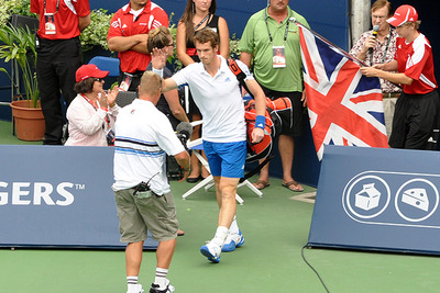 Andy Murray Entering Tennis Court