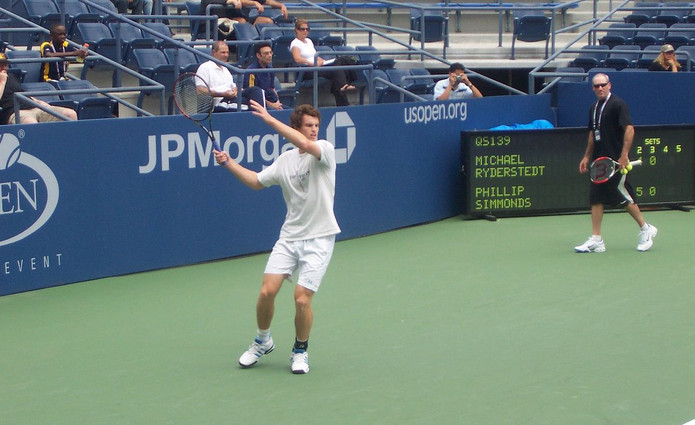 Andy Murray Practising in 2007