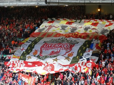 Supporters at Anfield