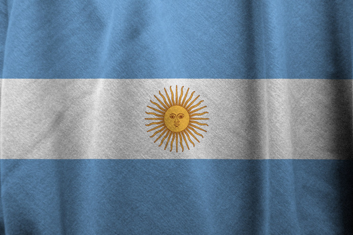 Argentina Flag Faded
