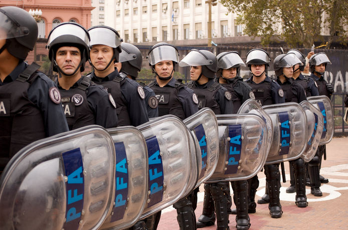 Argentinian Riot Police