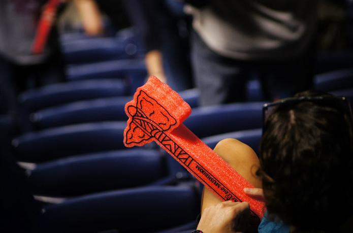 Atlanta Braves Fan with Foam Tomahawk