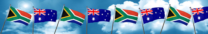 Australia and South Africa Flags