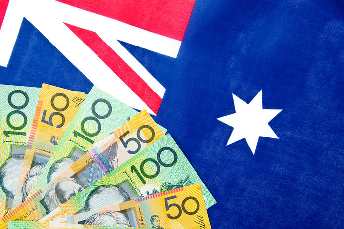 Australian Flag and Money