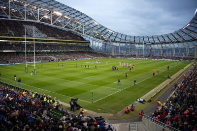 Rugby Match at the Aviva Stadium in Dublin Ireland