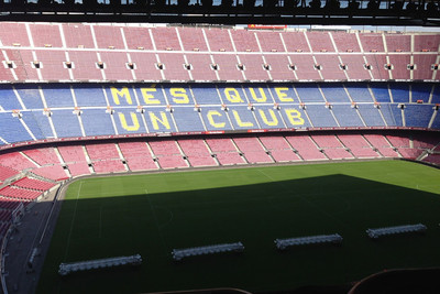 Barcelona Camp Nou with Shaded Pitch