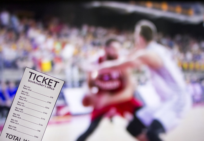 Basketball Game and Betting Ticket