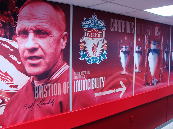 Bill Shankly Wall Display at Anfield