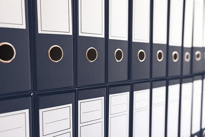 Binder Folders Stacked