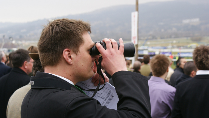 Binoculars at the Cheltenham Festival