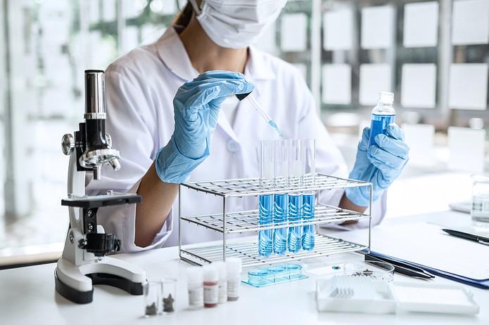 Biochemist in Laboratory