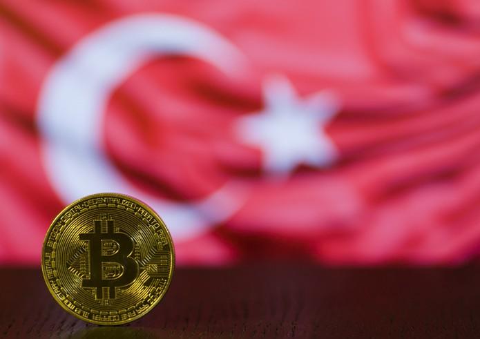 Bitcoin Against Turkish Flag