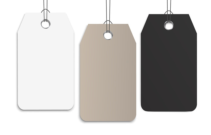 Blank Clothes Tags