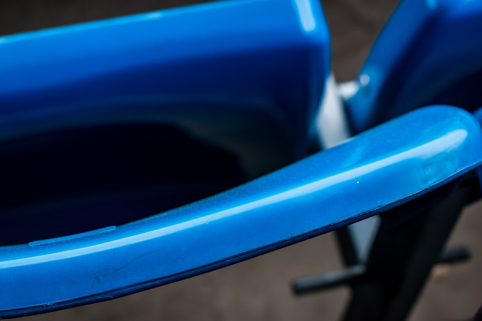 Blue Folded Stadium Seat