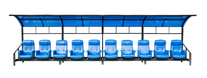 Blue Football Substitutes Bench