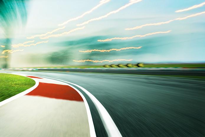 Blurred Racetrack