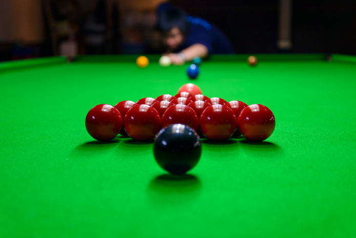 Blurred Snooker Shot