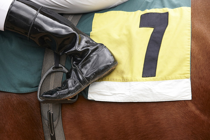 Boot of Jockey Horse Number 7