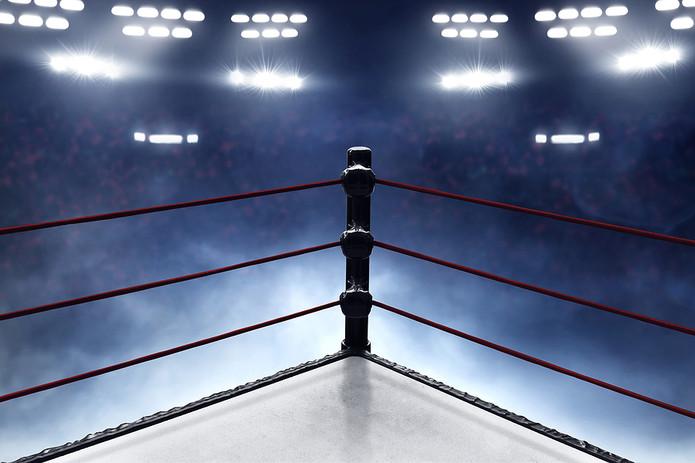 Boxing Ring Corner and Smoke