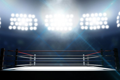 Boxing Ring Under Floodlights