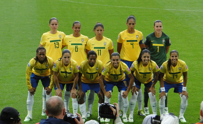 Brazil Team Photo at the Womens World Cup 2011