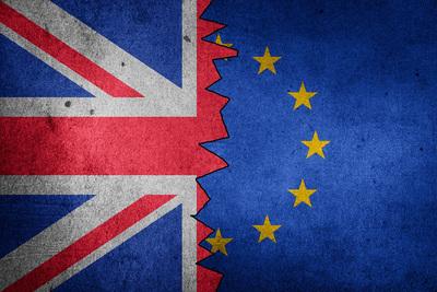 Brexit British and EU Flag