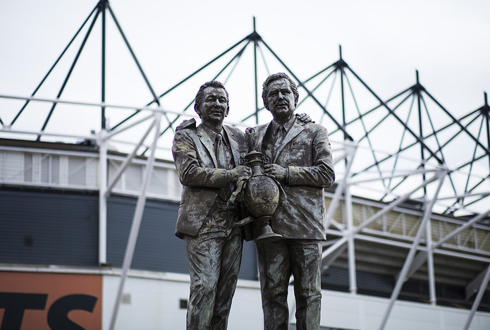 Brian Clough and Peter Taylor Statue at Derby County's Pride Park