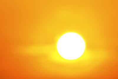 Bright Sun Orange Sky