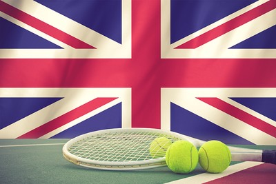 British Flag and Tennis Racket