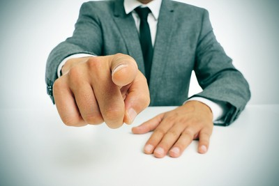 Businessman Pointing You Are Fired