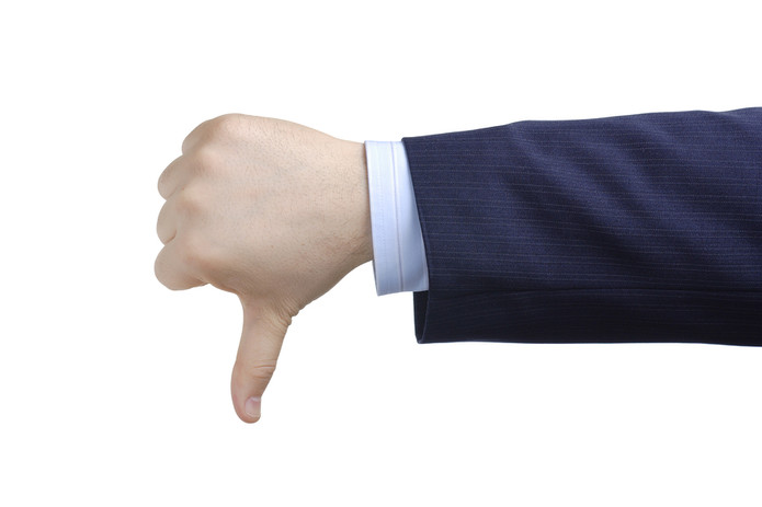 Businessman Thumbs Down
