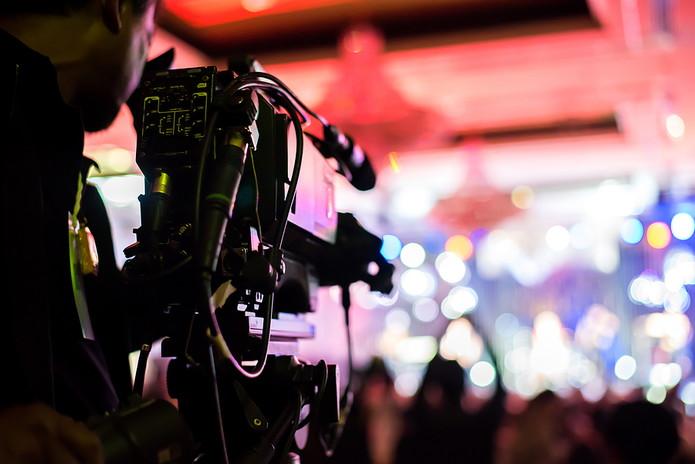 Cameraman Filming Stage