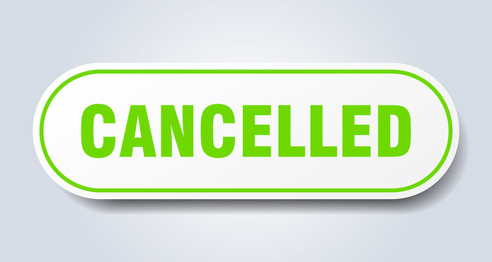 Cancelled Green Sign