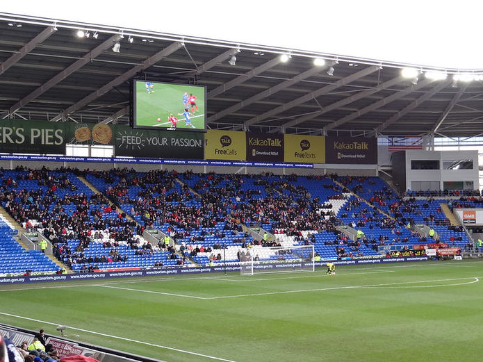 Cardiff City Versus Wigan Athletic FA Cup Match