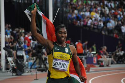 Caster Semenya After Race