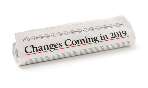 Changes Coming in 2019 Newspaper Headline