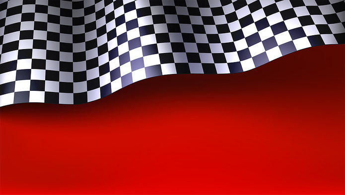 Chequered Flag Red Background