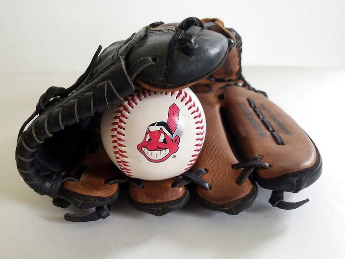 Cleveland Indians Baseball in Mitt