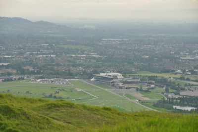 View of a Cloud Covered Cheltenham Racecourse