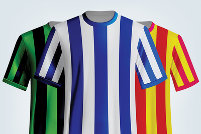 Coloured Football Shirts
