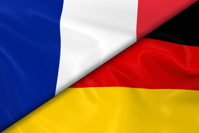 Combination of French and German Flags
