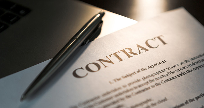 Contract and Pen
