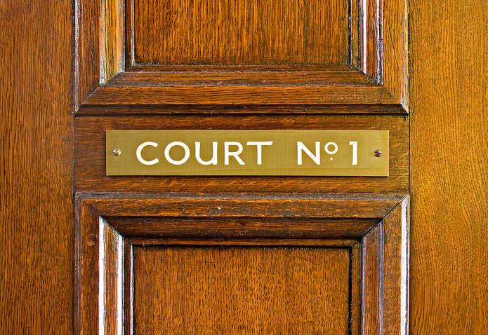 Courtroom Door